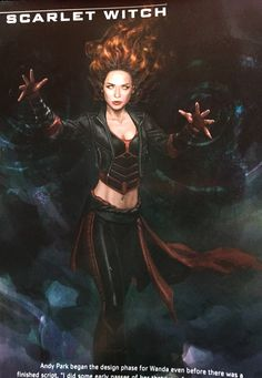 Wanda Maximoff/Scarlet Witch Avengers Age of Ultron Concept Art
