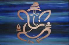 Beautiful Painting of Easy Canvas Painting, Fabric Painting, Canvas Art, Acrylic Paintings, Lord Ganesha Paintings, Ganesha Art, Shiva, Krishna, Indian Gods