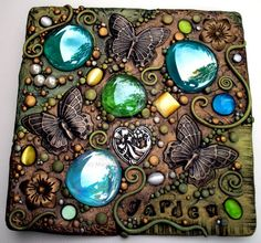 Butterfly Garden Mosaic Tile by MandarinMoon on deviantART
