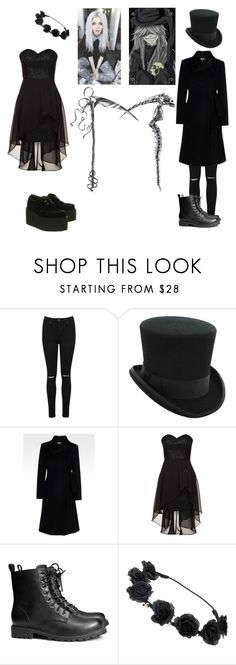 """""""the undertakers daughter (black butler)"""" by mychemicalbvb ❤ liked on Polyvore featuring Miss Selfridge, Armani Collezioni, Laona, H&M and Underground"""