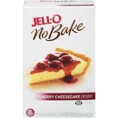 Jell-O No Bake Cherry Cheesecake Dessert Kit, 17.8 oz: Bakery & Bread