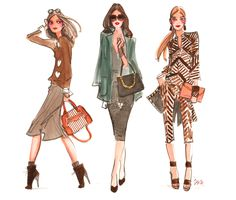 Fashion personality girls for @henribendel #fashion #illustration…