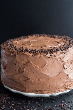 Simple Chocolate Birthday Cake with Whipped Chocolate Buttercream. - Half Baked Harvest