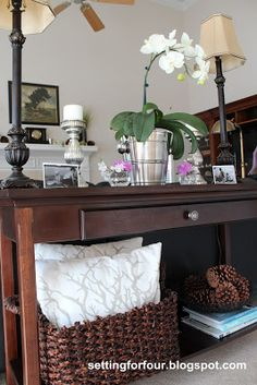 How to style a console table with decor and organization tips!