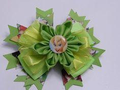 DIY flores o moños en cintas paso a paso hair accessories No.060 Manualidades la Hormiga - YouTube
