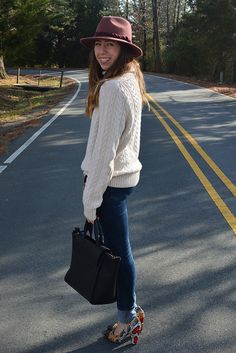 Comfy sweater and reptile heels  http://www.theflareblog.blogspot.com/2013/01/clothes-are-people-too.html