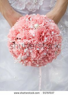 Carnation and pearl bouquet!
