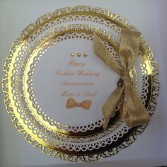 Spellbinders golden wedding card