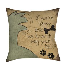 Thumbprintz Wag Your Tail Throw/ Floor Pillow - Overstock™ Shopping - Great Deals on Throw Pillows