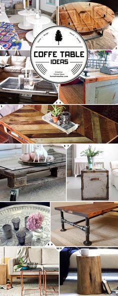 Creative Coffee Table Ideas | Home Tree Atlas Mood Board