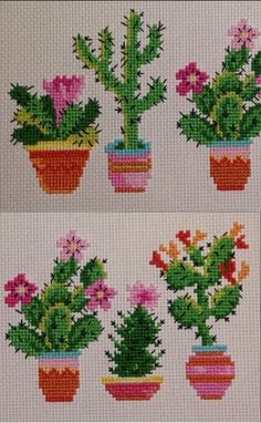 Cactus Cross Stitch, Mini Cross Stitch, Cross Stitch Cards, Cross Stitching, Cross Stitch Embroidery, Embroidery Patterns, Hand Embroidery, Cross Stitch Designs, Cross Stitch Patterns