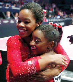 Simone Biles and Gabby Douglas World Champions! #Rio2016