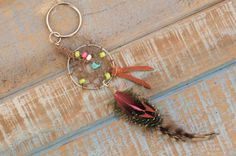 Gypsy Dreamcatcher Super Cute Small Feather Bag/Purse Charm OVERSTOCK SALE