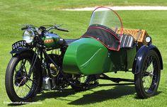 1932 BSA W32-7 Blue Star Vintage Motorcycle/Sidecar