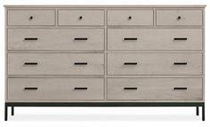 Linear Dressers with Steel Base - Dressers - Bedroom - Room & Board