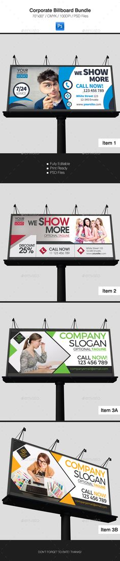 Corporate Billboard Banner Design Bundle 3 in 1 Template PSD. Download here: http://graphicriver.net/item/corporate-billboard-bundle-3-in-1/16499185?ref=yinkira