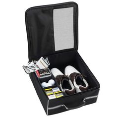 Golf And Sports Gear Black Organizer, great for transporting your golf gear and shoes or can be used for many purposes. Provides storage for shoes, balls, spikes, gloves, tees, and towel. Ventilated over the largest shoe sized compartment. Folds flat for shipping optimal storage. Lifetime warranty. Creative gift ideas, Christmas gifts, gifts for guys, boyfriend gifts, christmas gifts for boyfriend, secret santa ideas, gifts for dad, Christmas presents for boyfriend. #GiftCreativity