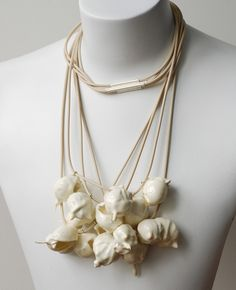 EILEEN LEAHY-NZ  Scuttle (Necklace) Silver, rubber, polyurethane, found objects.