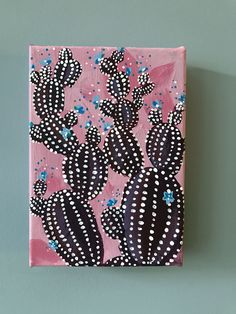 // perfect for the gardener in your life, this small prickly pear cactus on canvas will capture their heart - #shopfreeinthelines