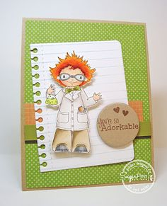You're Adorkable card-designed by Lori Tecler/Inking Aloud-stamps and dies from SugarPea Designs