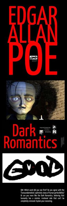 Use this free multimedia lecture with writing prompt to begin your study of any work by Edgar Allan Poe. Lecture includes a brief overview of the Dark Romantics and a short Poe bio. FREE!