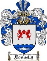Donnelly Coat of Arms Irish Family Crest