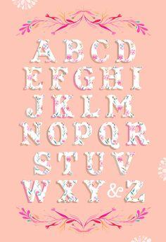 alphabet Fonte Alphabet, Alphabet Art, Cross Stitch Alphabet, Alphabet And Numbers, Letter Art, Alphabet Design, Creative Lettering, Lettering Design, Hand Lettering