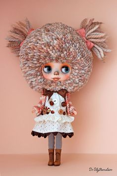 "Custom BLYTHE doll, YARN HEAD ""Bombi the Koala"" by Dr. Blythenstein"