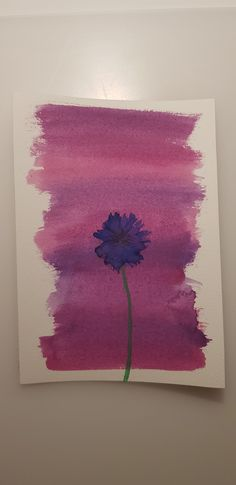Violet flower with pink background made with watercolors. Watercolor Flowers, Watercolor Tattoo, Watercolors, Tattoos, Drawings, Pink, Painting, Art, Watercolor