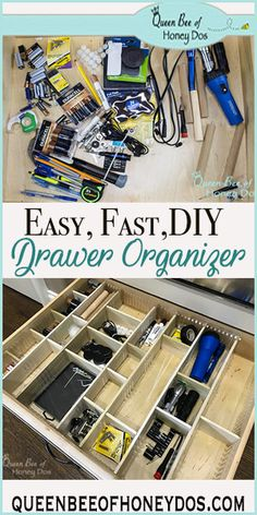 Craft Drawer Organization, Diy Drawer Dividers, Diy Drawer Organizer, Drawer Organisers, Craft Storage, Organizing Tips, Cleaning Tips, Organization Ideas, Storage Ideas