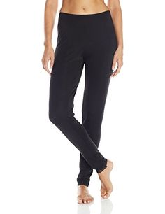 Women's Athletic Base Layers - Cuddl Duds Womens Softwear Lace Edge Legging -- You can get more details by clicking on the image.