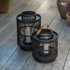 Elevate your outdoor entertaining with the stunning Dassie Artisan small Ira black Bamboo Lantern, perfect for prolonging the evening way after the sun sets. Handmade in Vietnam with a glass candle holder in the centre, it is simple, stylish and on-trend. Hanging Lanterns, Candle Lanterns, Hurricane Centerpiece, Hurricane Centre, Hurricane Glass, How To Make Lanterns, Black Lantern, Lantern Designs, Interiors