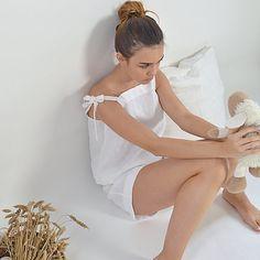 Linen pajama  Women's linen sleepwear  Soft linen by pureWHITEspa