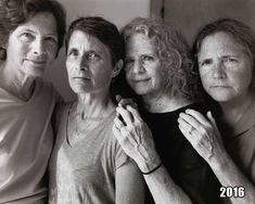 When Nicholas Nixon was visiting his wife's family in the summer of 1975, he asked all four sisters – left to right: Heather, Mimi, BeBe, and Laurie – to stand ...