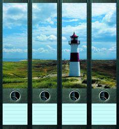 Lever Arch File Label Lighthouse AJ007