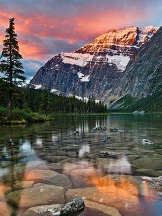 Mount Edith Cavell at Sunrise, Jasper National Park, Alberta
