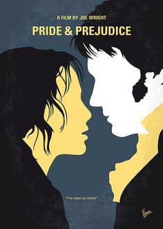 "My Pride and Prejudice minimal movie poster"" Graphic/Illustration by chungkong posters, art prints, canvas prints, greeting cards or gallery prints. Find more Graphic/Illustration art prints. Jane Austen, Elizabeth Bennet, Ep Logo, Mr. Darcy, Keira Knightley, Pride & Prejudice Movie, Poster Minimalista, Comedy, Minimal Movie Posters"