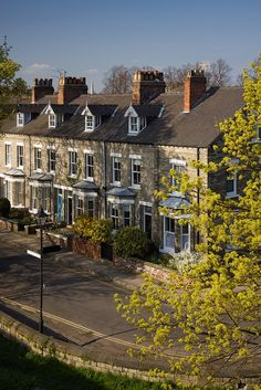"Newton Terrace, York, North Yorkshire, England. I remember when I lived in Whitby, just a 40 min. drive from there, thinking how nice it would be to live ""in the city"" in York."