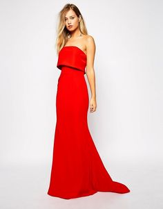 Strapless Red Maxi Dress