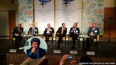 """This all-male panel in Paris was at last year's Global Summit of Women. """"Congrats! You have an all male panel."""" http://allmalepanels.tumblr.com/"""