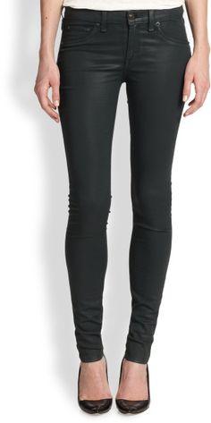 Rag & Bone The Legging Coated Jeans @Lyst