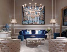 Heritage Collection - Nemo sofa, Vienna armchairs and Saturno coffee tables #Heritage #LuxuryLivingGroup