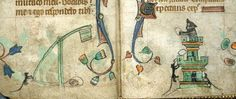 The mice decided to rebel, attacking the cat's castle with a catapult (@BLMedieval, (Harley 6563) #MedievalCats