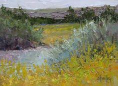 "Original Oil Landscape Painting ""Streamside"" by Colorado Landscape Artist Barbara Churchley"