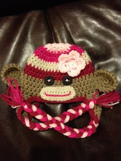 Made to Order Baby Newborn Multicolored Pink Girl by beaniebird, $18.00