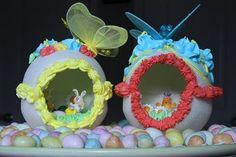 Panoramic Sugar Easter Eggs - make your own (tutorial) :: Non-edible!