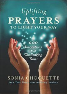 This is a beautiful, all inclusive prayer book. There are prayers for every occasion and the book is divided into different chapters to deal with different challenges. The first chapter is 'Waking Up', prayers to reconnect with your spirit, another chapter is under the title 'Rainy Days'. I highly recommend this book — I use it daily. You can start at the beginning and work your way through, or chose to just open to a page and work with the prayer and the words on that page for the day.