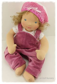 "15"" cloth baby doll wool sculpted face."