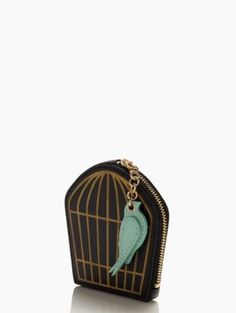 kate spade new york - hello shanghai birdcage coin purse Hermes Kelly Bag, Bird Cage, Shanghai, Zip Around Wallet, Coin Purse, Kate Spade, Purses, Leather, Bags