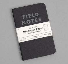 "FIELD NOTES: ""Pitch Black"" Memo Books, 3-Pack"